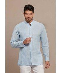 7ccfc2108c Guayabera Wedding Style. Collar - MAO. Hidden Button. Italian Premium 100  %. Linen.
