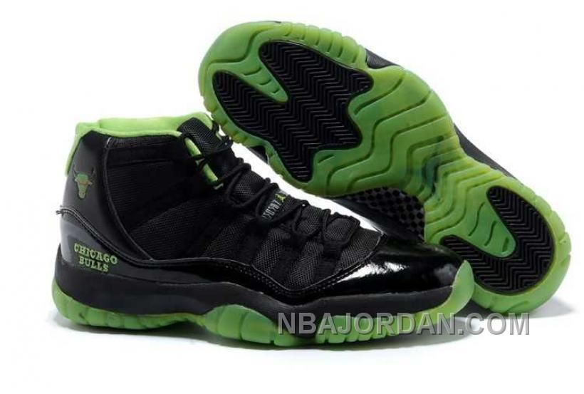 c7bb24e3143 NIKE AIR JORDAN 11 MENS NEW STYLE BLACK GREEN SHOES Only $84.00 , Free  Shipping!