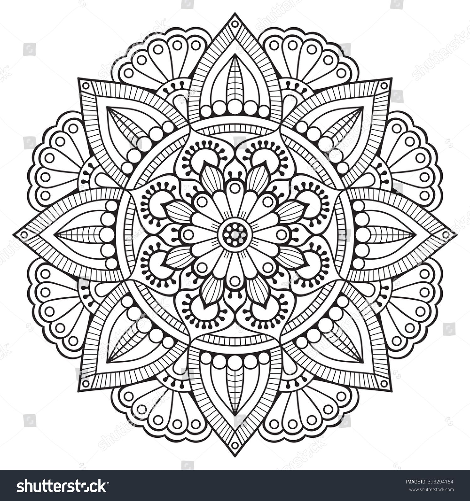 Flower Mandalas Vintage Decorative Elements Oriental Pattern Vector Illustration Islam Arabic In Mandala Malvorlagen Muster Zum Ausmalen Mandala Ausmalen