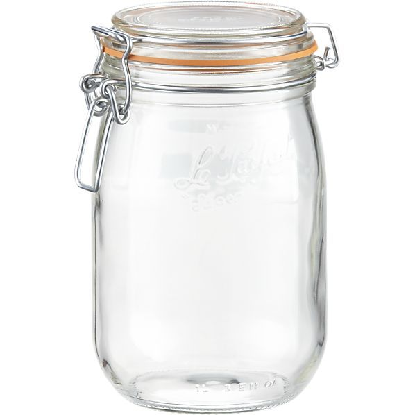 Le Parfait 1 Liter Jar In Food Containers Storage Crate And Barrel 8 95 For Our Nespresso Pods With Images Glass Canning Jars Le Parfait Jar