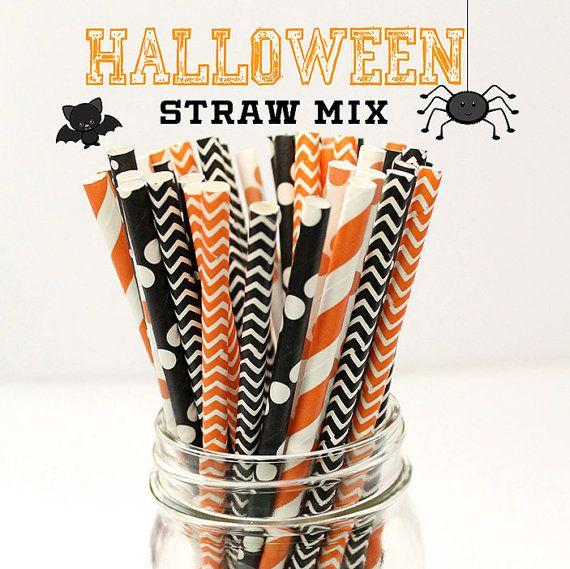 Halloween Straw Mix - Baby Shower, Bridal Shower, Halloween Party