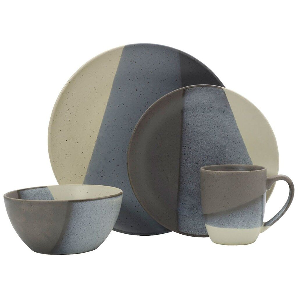 Gourmet Basics Brandi Gray 16 Pc Dinnerware Set Grey 16