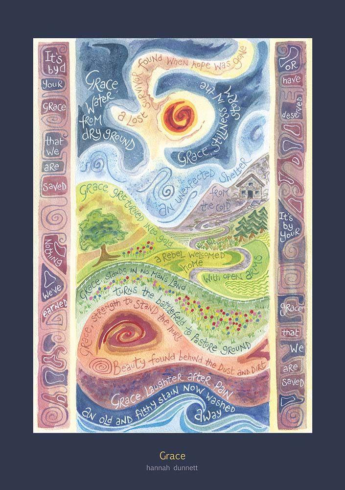 Grace Cards | amazing art posters | Scripture art, Bible