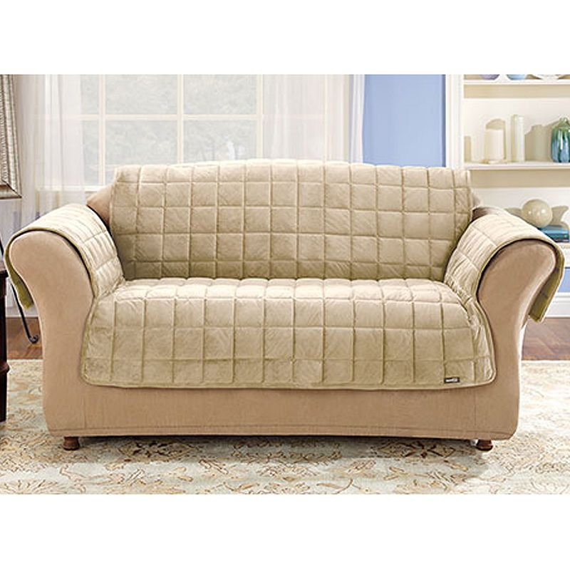 Sure Fit Quilted Velvet Deluxe Sofa Pet Furniture Cover Products