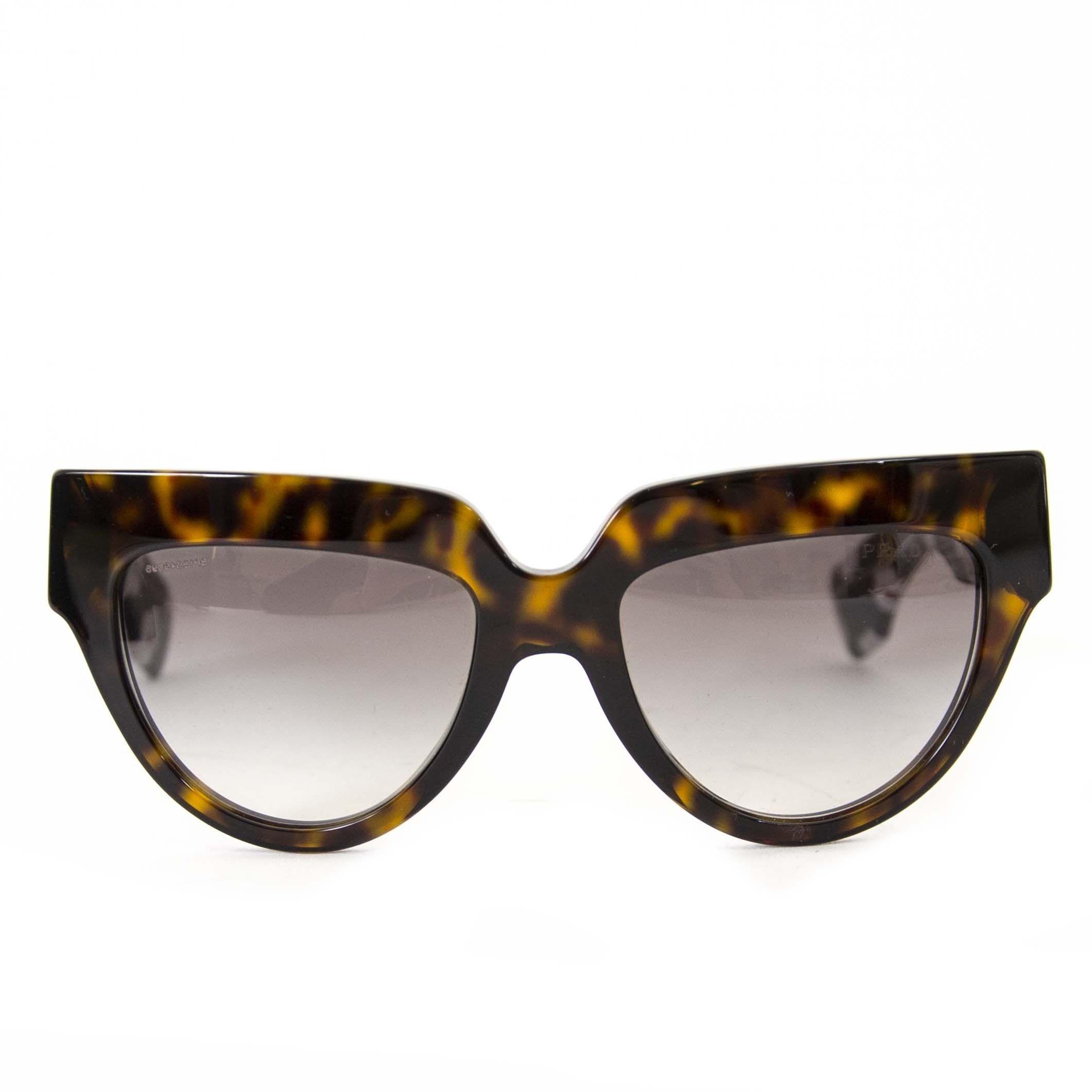 b09d5ba77b2cd Prada Poeme Black And Tortoise Flower Sunglasses