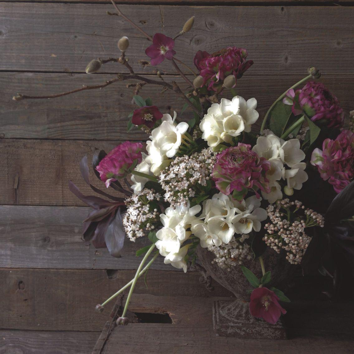 country garden florist. spring #urn #flower arrangement in #plum by the country garden florist. # florist
