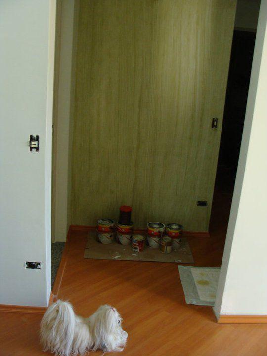detalhe do corredor usando o gel de efeito