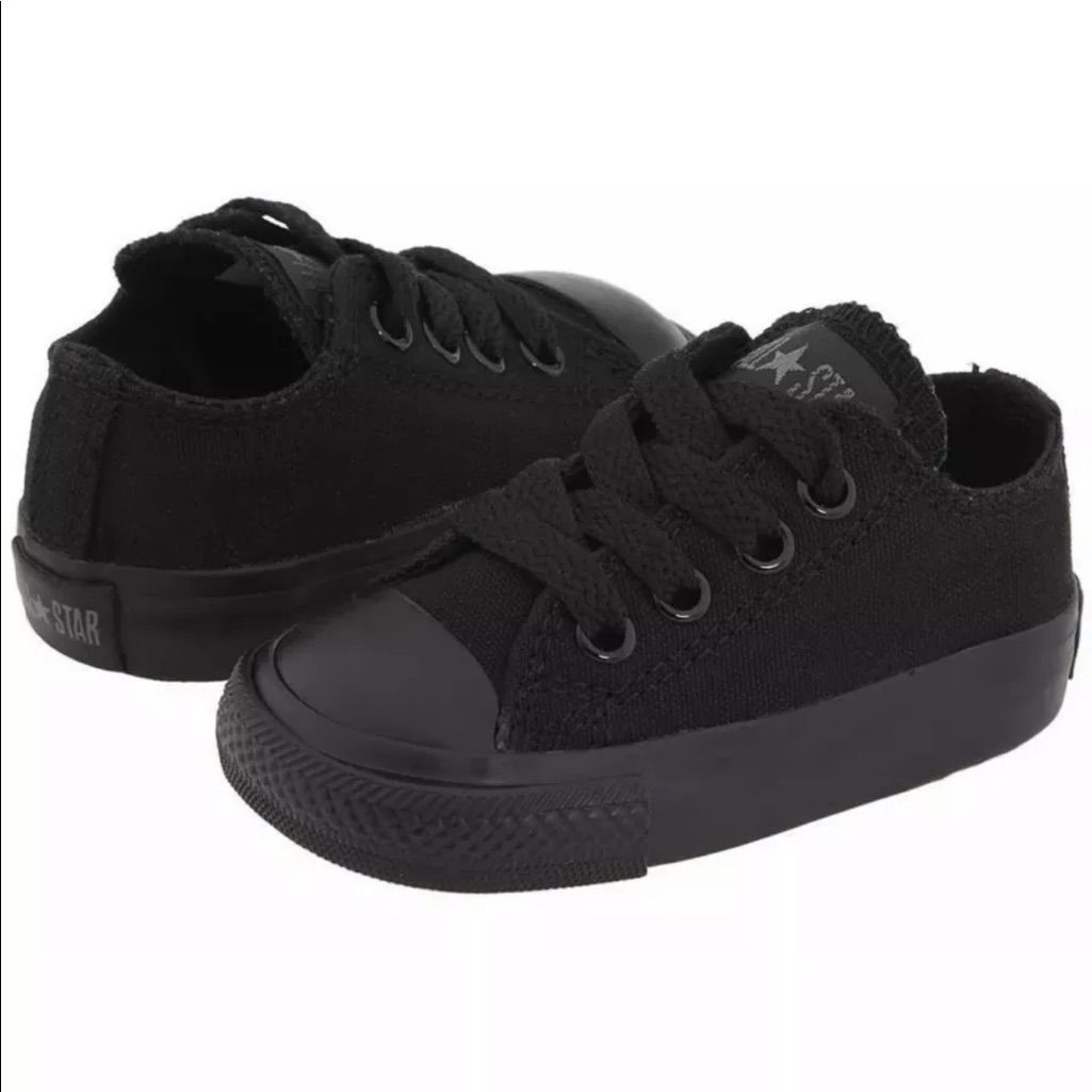 boys all black converse
