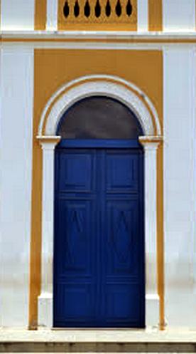Detalhe da porta principal da Igreja Matriz de Nossa Senhora da Conceição, Araruna - PB - Brasil