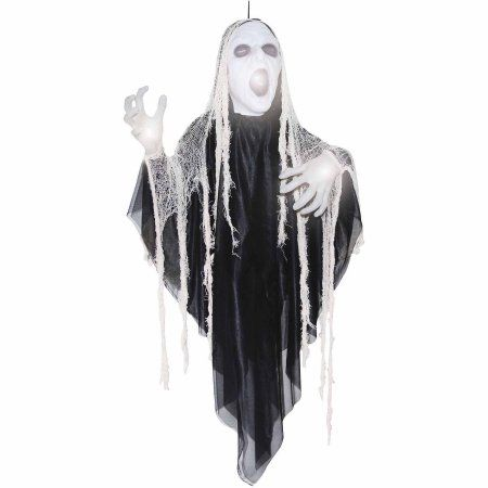 5' Animated Sinister Reaper Halloween Prop, Black