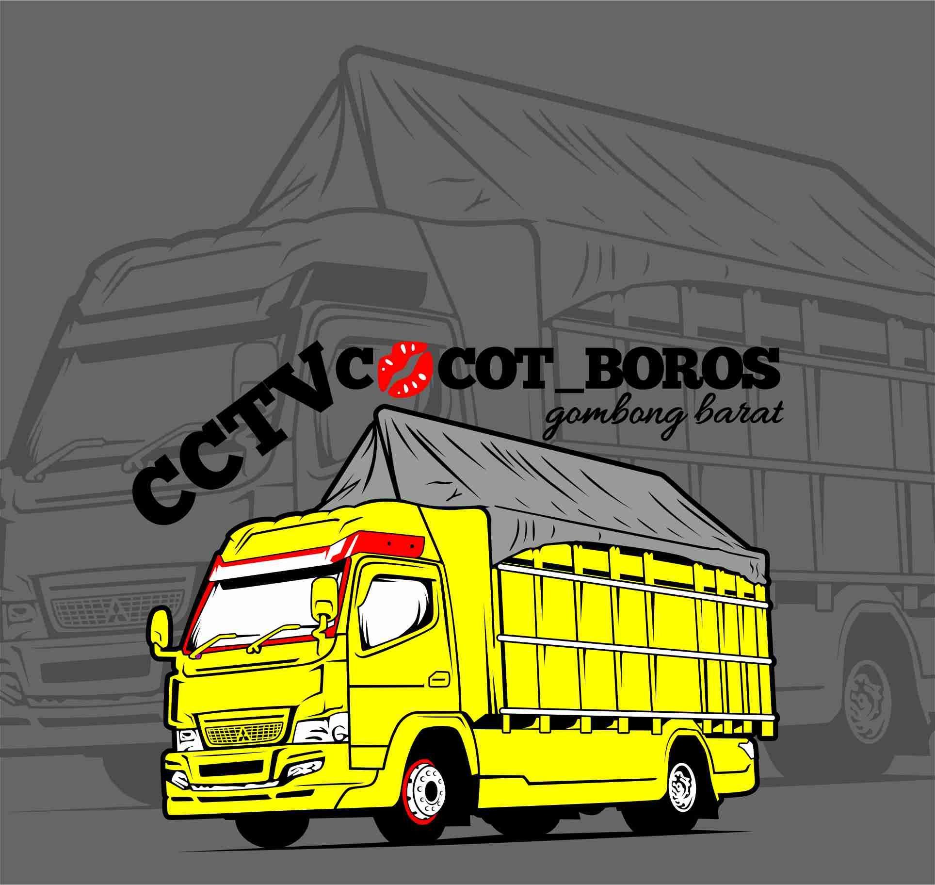 Truk Vector Cctv Cocot Boros Mobil Desain Logo Modifikasi Mobil