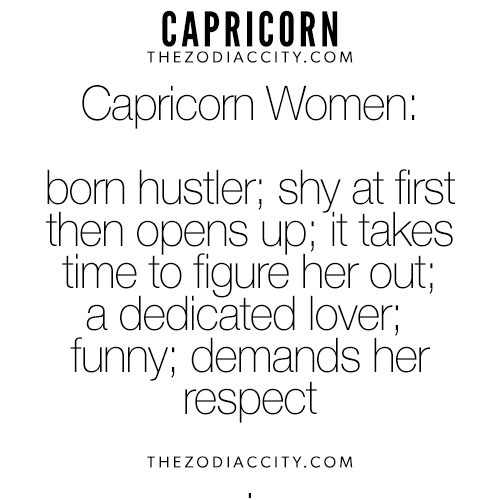 All about the capricorn woman