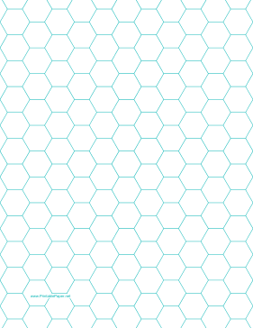 Printable Hexagon Graph Paper With 1 2 Inch Spacing On Letter Sized Paper Graph Paper Hexagon Hexagon Quilt