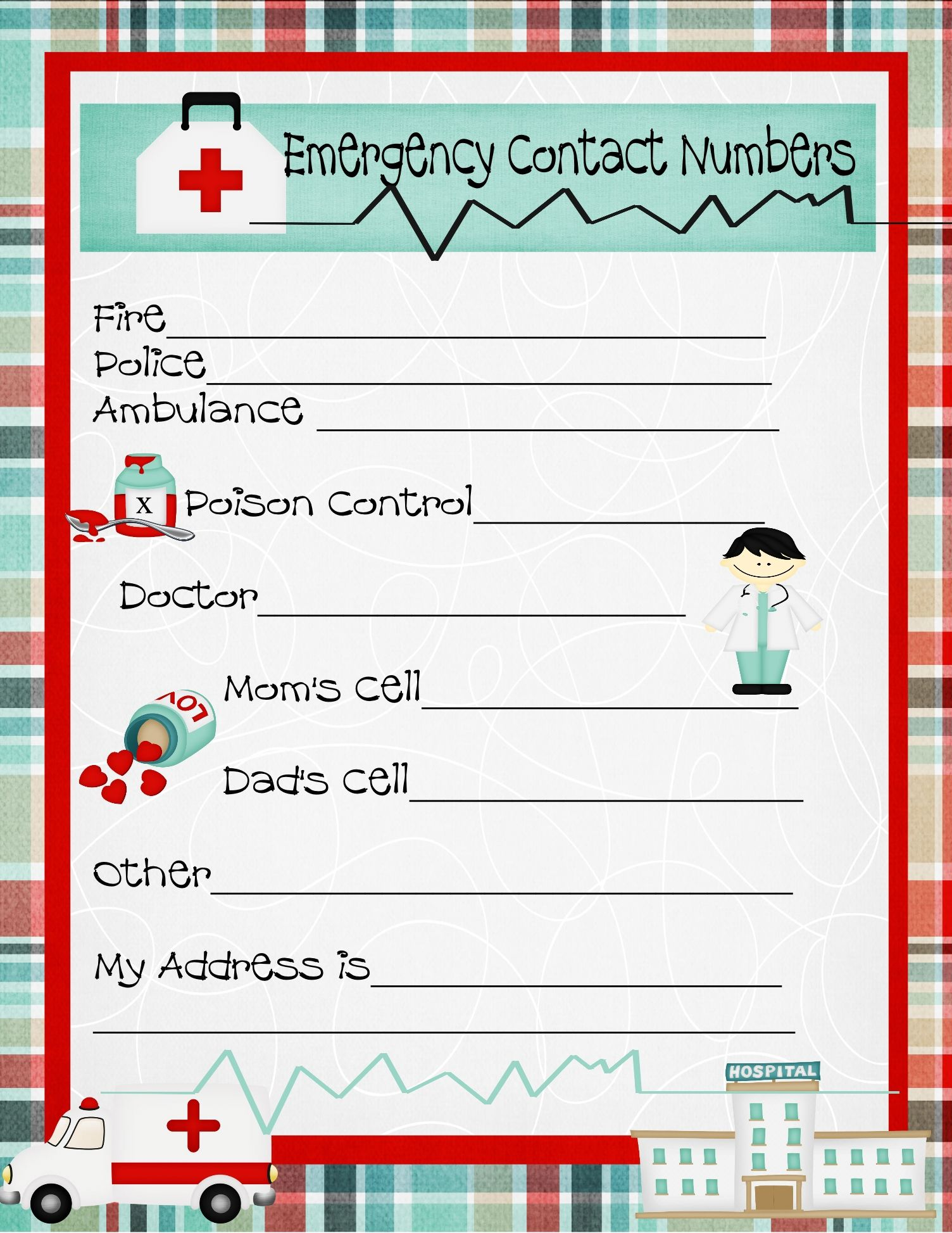 Emergency Contact Numbers Prepare Your Children