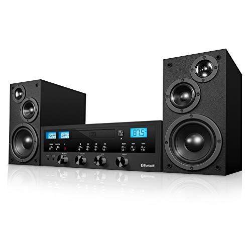 Radio Black Innovative Technology Retro Bluetooth Stereo System with CD