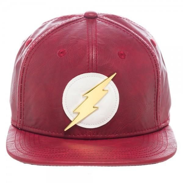 dce907f4 As much as we'd like to promise that this red faux leather DC Comics Flash  PU Snapback hat will magically make you as fast as Barry Allen, thus  negating ...
