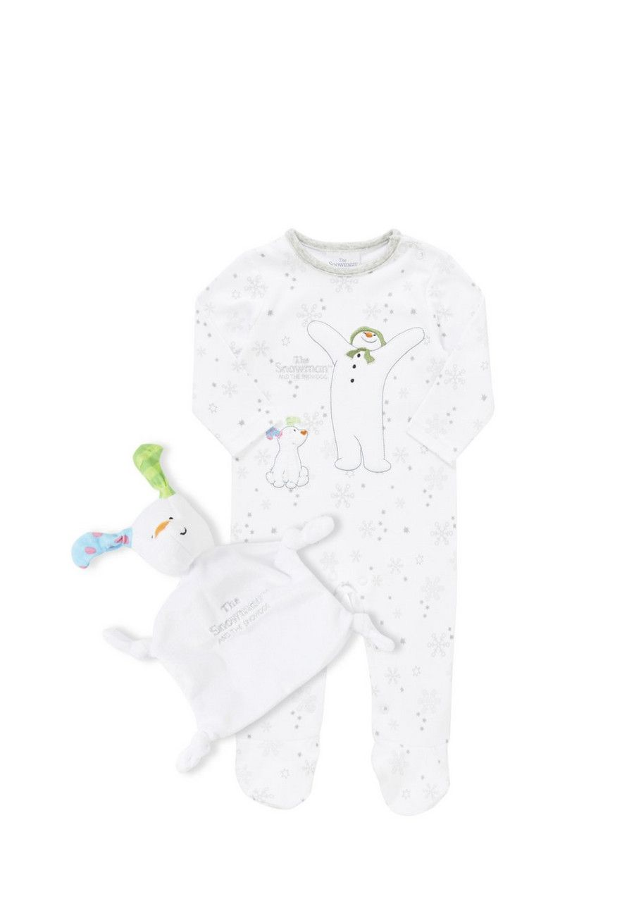 4e3d36696 Clothing at Tesco | The Snowman and the Snowdog Sleepsuit and Comforter >  nightwear