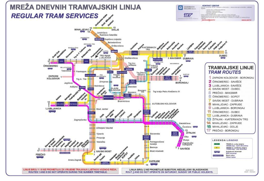 How To Use The Tram In Zagreb An Easy Way To Get Around Town Mapas Viajes