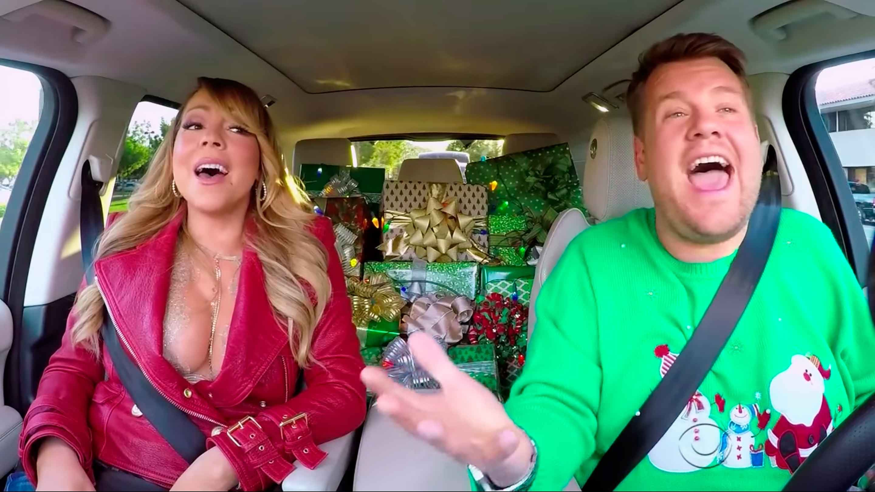 All I Want For Christmas Is Mariah S Star Studded Carpool Karaoke Carpool Karaoke Mariah Carey Christmas Carpool Karaoke