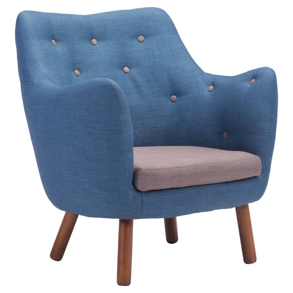 Best European Mid Century Modern Accent Chair Cobalt Blue 640 x 480