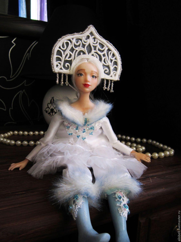 """Купить будуарная кукла """"Снегурочка"""" - белый, Новый Год ..."""