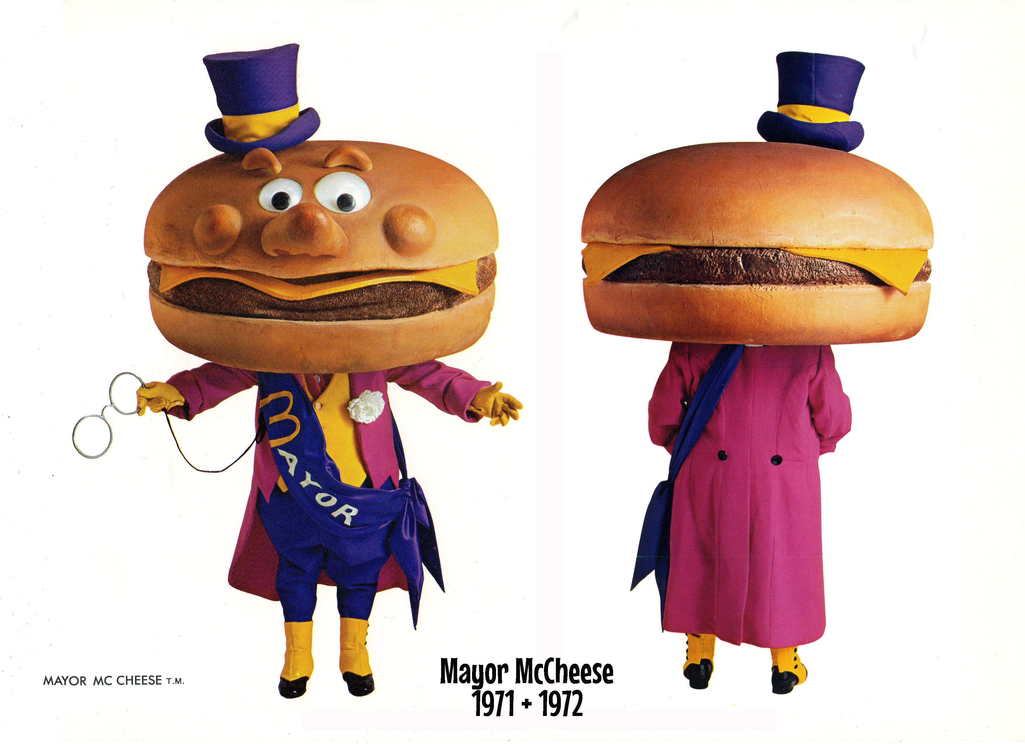 The Original Design For Mayor Mccheese As He First Appeared On Tv In Mcdonaldland In 1971 And 1972 Mayor Howard Morris Ronald Mcdonald Costume Little Person Mayor mccheese is the mayor of mcdonaldland , the fictional world seen in mcdonald's commercials.he has an enormous cheeseburger for a head. the original design for mayor mccheese