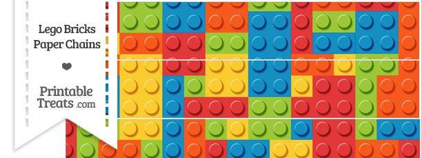 Lego Bricks Paper Chains | KIDS PARTY-LEGO | Pinterest | Paper chains