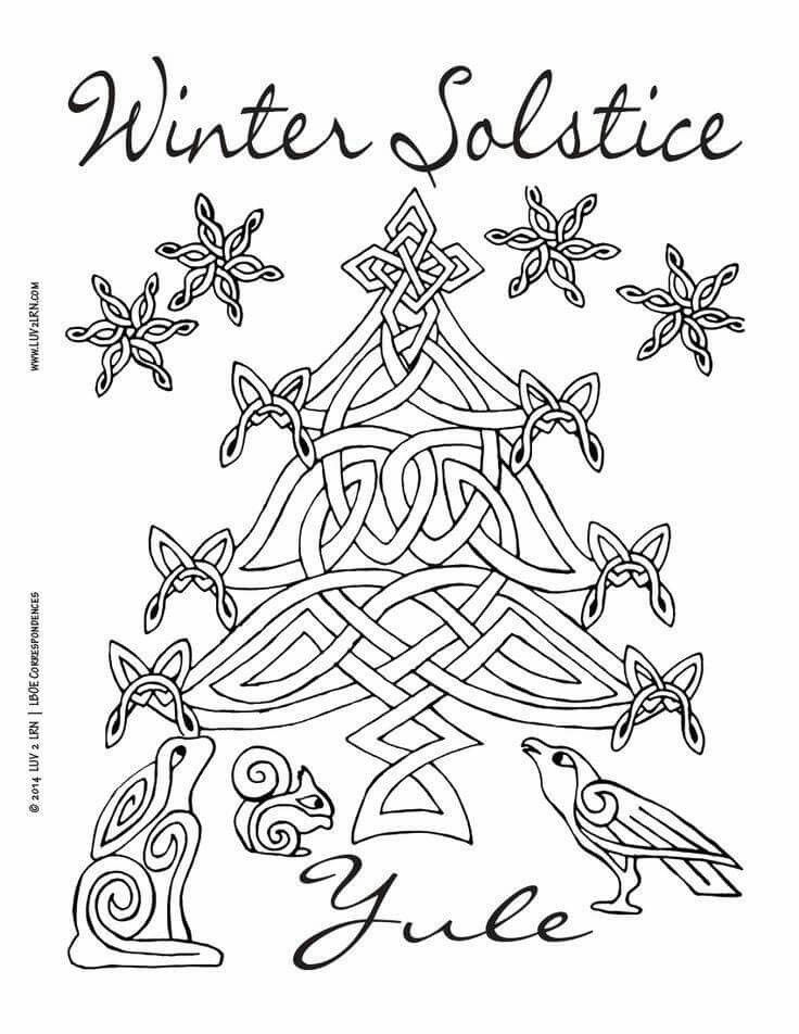 Winter Solstice Winter Solstice Yule Crafts Coloring Pages