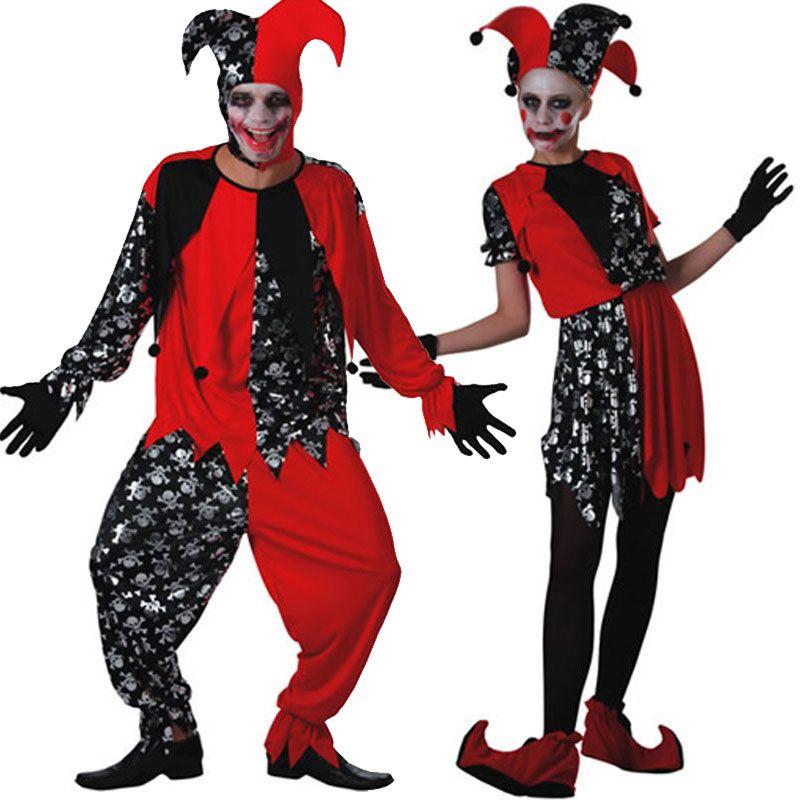 Pareja Disfraces de Bufones  parejas  disfraces  carnaval ... 47902b1f03d7