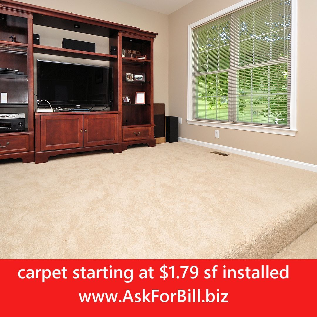In Stock 4 Colors To Choose From Installed With Upgraded 8 Lb Rebond Pad Removal Of Old Flooring And Furnit Flooring Sale Home Upgrades Carpet Installation
