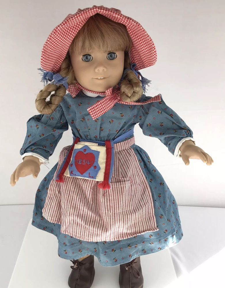"18/"" American Girl Doll Kirsten Birthday Outfit Dress Socks ONLY Pleasant Company"