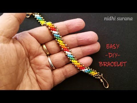 ⚜️Seed Bead Bracelet/Choker/Anklet || How to make ||Pulsera Tutorial Diy (0391) - YouTube