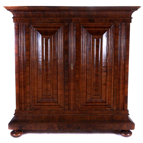 German Baroque Iron Mounted Walnut Schrank Lot 3278 Schrank