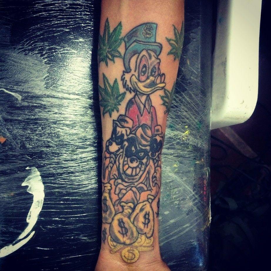 Tio Patinhas E Os Irmãos Metralha Tatuagem