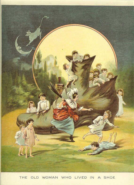 Vintage Nursery Rhyme Illustrations Vintage 1920s