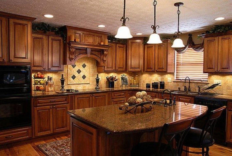 Black Espresso Mahogany Kitchen Cabinet Perfect Beige ...