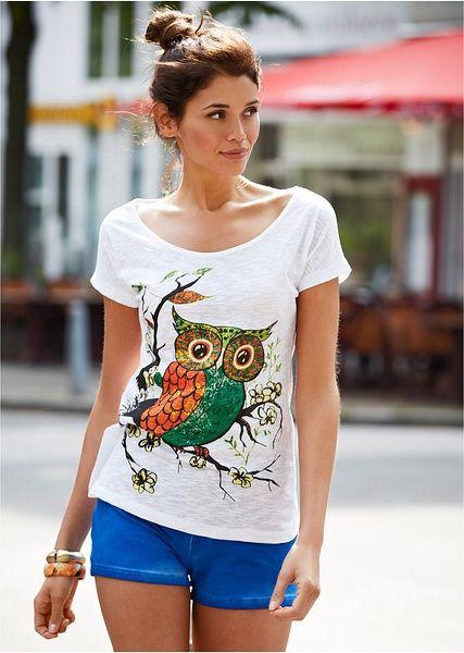 Tričko Sova Vo voľnom strihu a v módne • 8.99 € • Bon prix