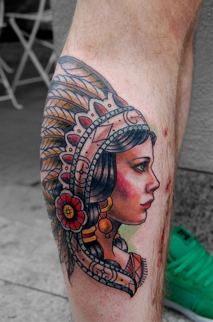 Indian girl by tattooneos tattoo portrait pinterest for Indian woman tattoo