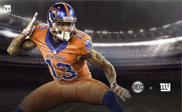 premium selection b2b30 af302 NFL-NBA Jersey Mashup Odell Beckham - NY Giants   Fave ...