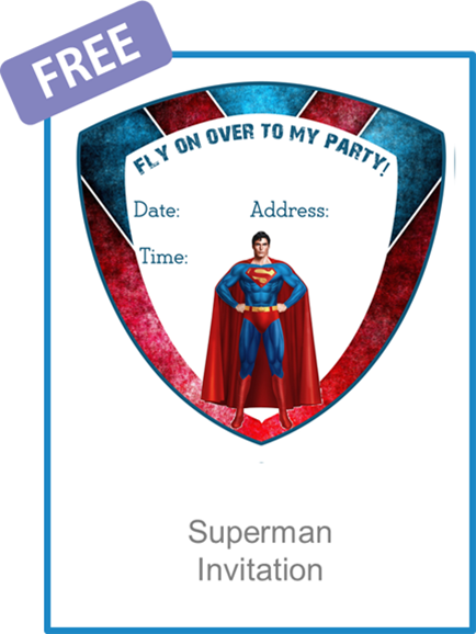 superman invitation free pdf download party cartoons n z