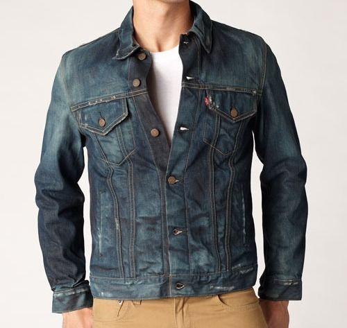 9fb8f9125aa9e Levis selvedge slim Trucker Jacket - magnetic Mens Casual Jeans