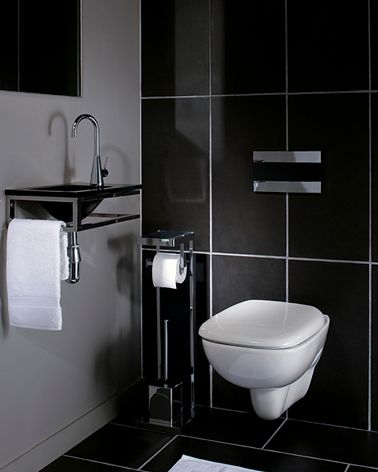 La d co des wc noir et blanc osez c 39 est chic toilet and apartments - Decoration toilette gris ...