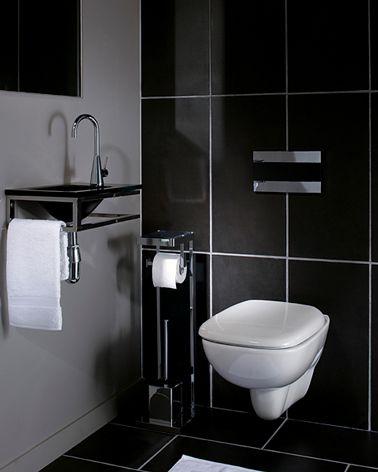 La Deco Des Wc Noir Et Blanc Osez C Est Chic Decoration Toilettes Deco Toilettes Toilette Suspendu