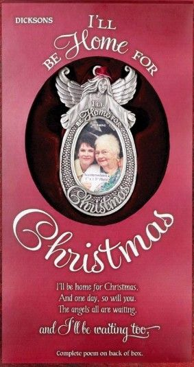 ill be home for christmas ornament memorials christmas holiday christmasgifts holidaygifts sympathygifts memorialgifts sympathyquotes - I Will Be Home For Christmas