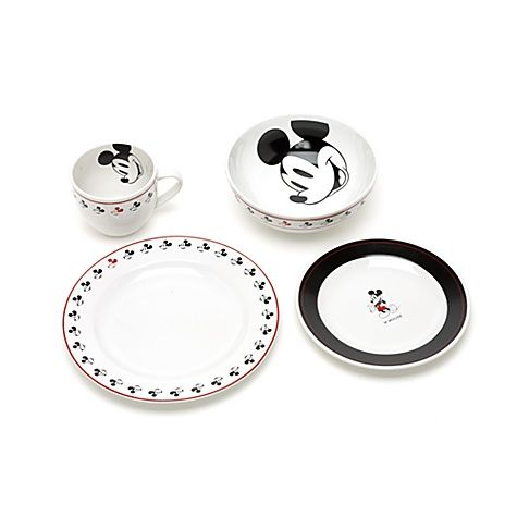 Mickey Mouse Dinner Set - 16 Piece Set  sc 1 st  Pinterest : mickey mouse dinnerware set - pezcame.com