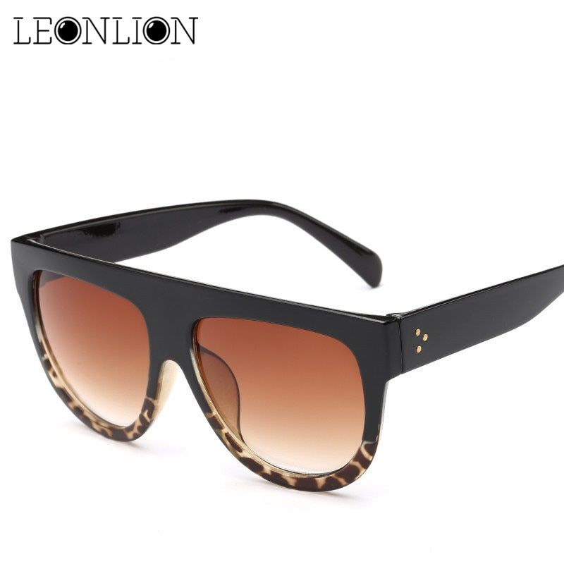 LeonLion 2018 Big Frame Leopard Sunglasses Women Men Candy Lens Ladies Sun  Glasses Classic Retro Outdoor Oculos De Sol Gafas d79c2138e1
