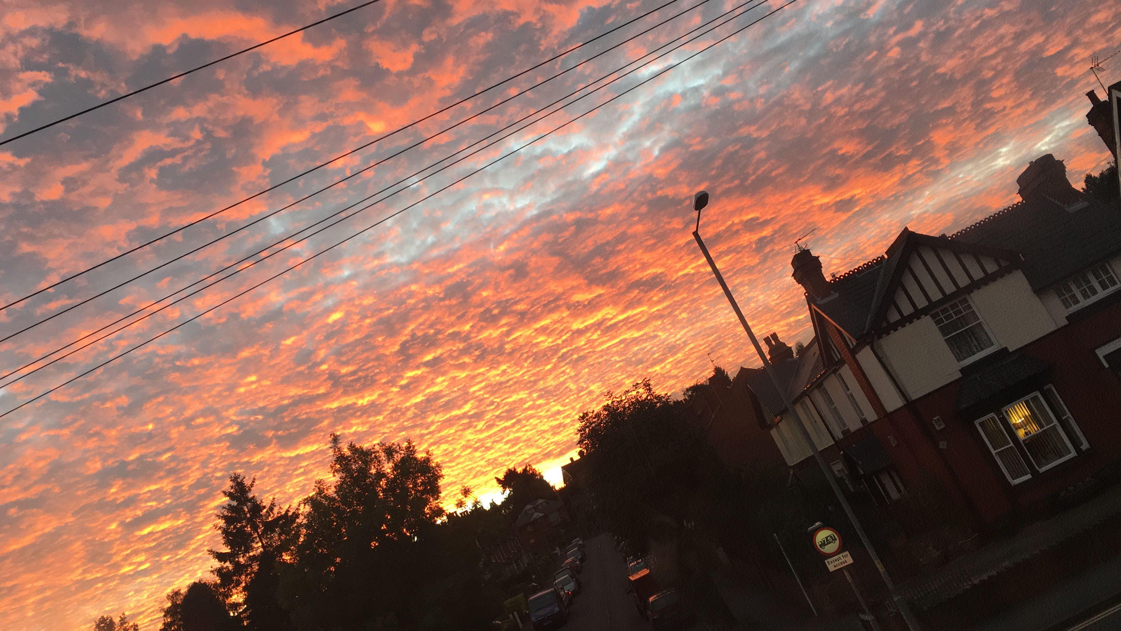 #sunset #sun #beautiful #UK #England #Kidderminster