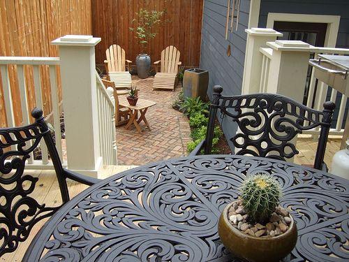 Small yard ideas--brickwork