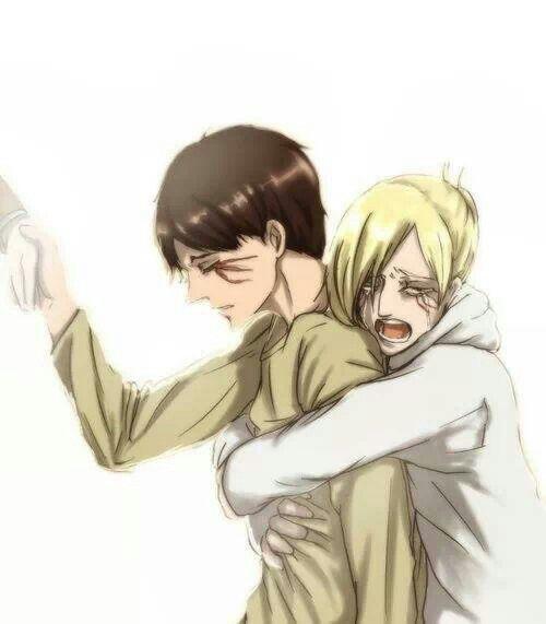 Eren Jaeger x Annie Leonhardt / Leonhart | EreAnnie / ErenAnnie / EreAnni | Titan Shifters | Attack on Titan / Shingeki no Kyojin AoT / SnK | Anime manga couple fanart | OTP