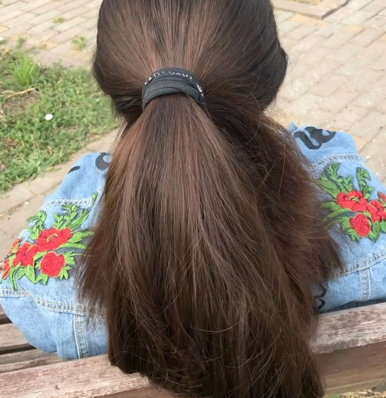 Video Mila S Ponytail And Braid In 2020 Long Hair Ponytail Long Silky Hair Thick Hair Styles